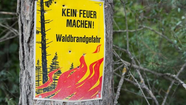 Plakat für Feuerverbot.