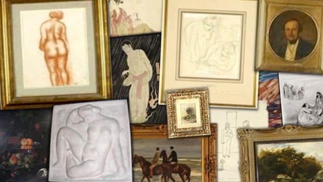 Collage mit Bildern von der Liste des Kunstmusuems Bern.