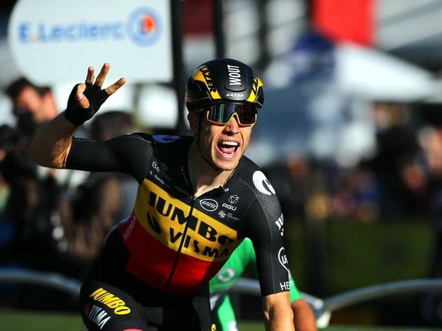 Drei Etappensiege konnte Wout van Aert einfahren: In den Bergen, im Zeitfahren und im Massensprint.