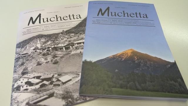 Las emprimas dus ediziuns da la nova revista.