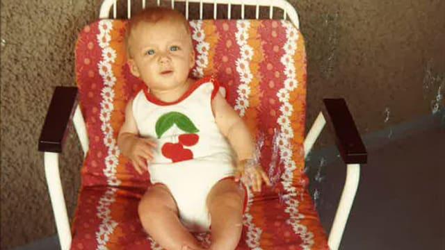 Reto Scherrer als Baby.