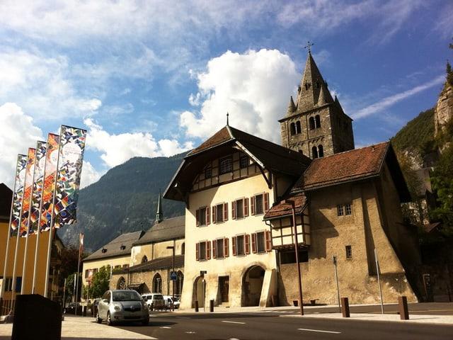 Fassade des Klosters Saint-Maurice.