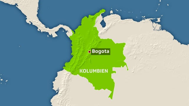 Karte von Kolumbien.