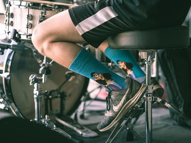 Socken vom Schlagzeuger Severin