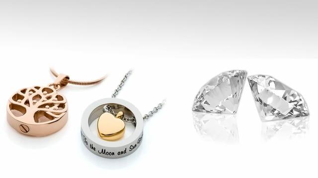 Diamant und Anhänger