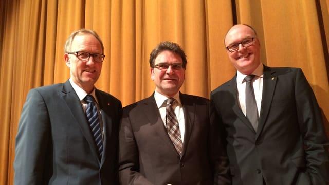 Peter Hegglin, Beat Villiger und Martin Pfister (von links) sollen es für die Zuger CVP richten.