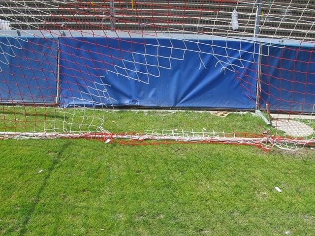Zerrissenes Netz beim Goal