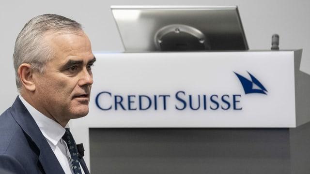 Der CEO der Credit Suisse, Thomas Gottstein, sieht die Grossbank für Kreditausfälle gut gewappnet.