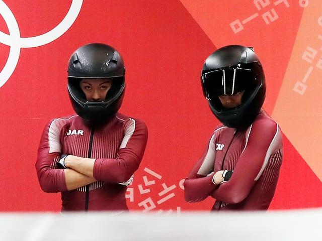 Nadeschda Sergejewa und Anastasia Kocherschowa in Pyeongchang.