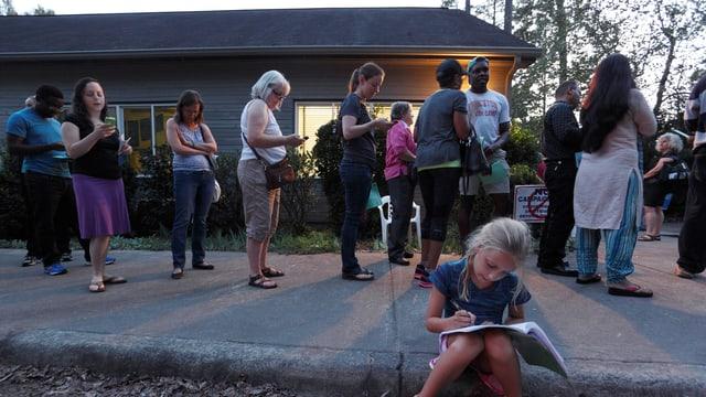 «I voted! Did you?» – Präsidentenwahlen in der Stadt Durham (North Carolina) am letzten Wochenende.