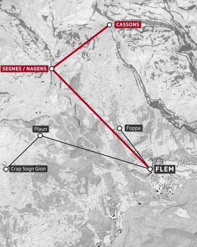 Carta geografica Flem Nagens Cassons.