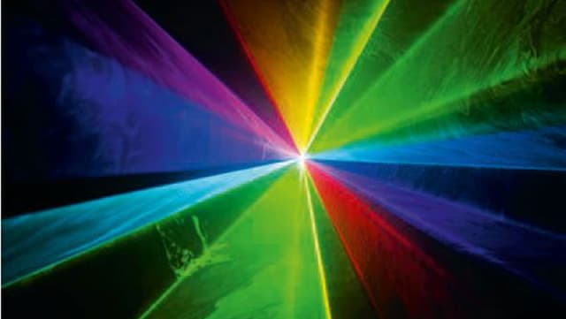 Farbige Lasershow