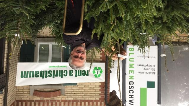 Viktor Gschwend vermietet in diesem Jahr in Neukirch-Egnach Weihnachtsbäume.