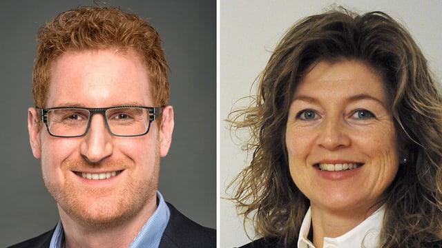 Die beiden Kandidaten Marc Winiger und Daniela Cadosch.