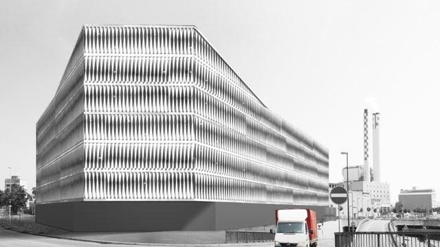 Ein modernes Gebäude