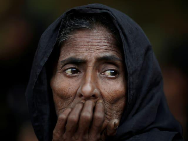 Ältere Rohingya-Frau