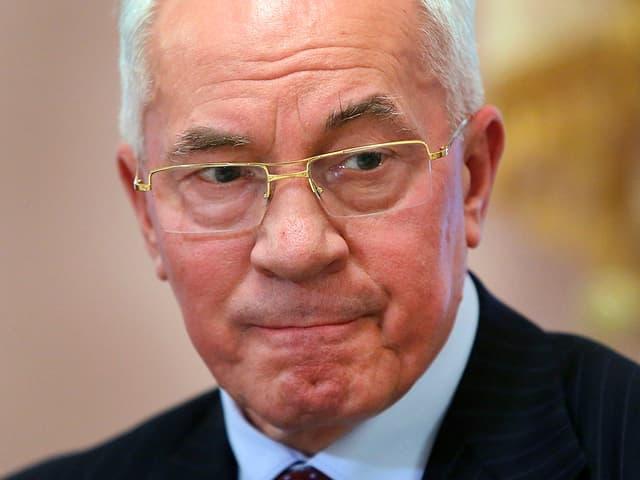 Nikolai Asarow, Ministerpräsident der Ukraine, in Porträtaufnahme