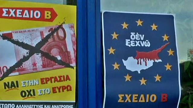 Plakat der Anti-EU-Partei in Griechenland.