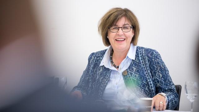 Publikumsratspräsidentin Susanne Hasler