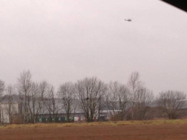 Helikopter am Himmel