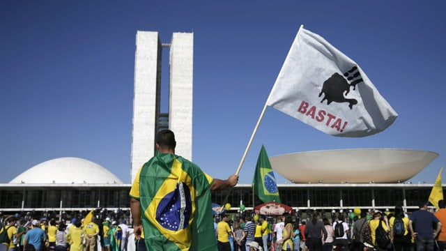 Demonstation gegen Rousseff.