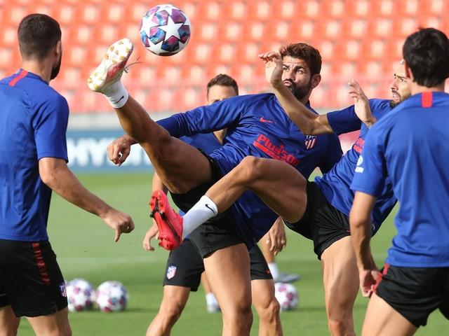 Die Atletico-Spieler im Training