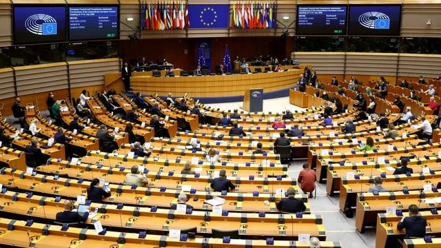 Der Sitzungssaal des Europaparlaments in Brüssel.