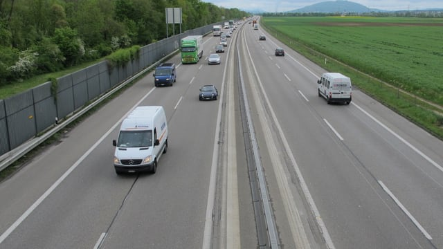 Autobahn A1 bei Oensingen