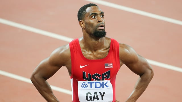 Tyson Gay auf der Tartanbahn.