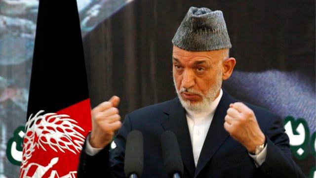 Afghanistans Präsident Hamid Karsai.