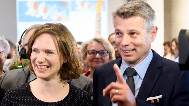 Evi Allemann und Christoph Ammann