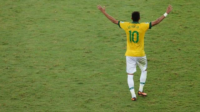 Brasiliens Fussball-Star Neymar ist ein Publikumsmagnet.