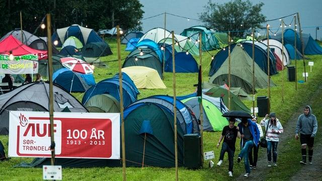 Zelte im Lager.