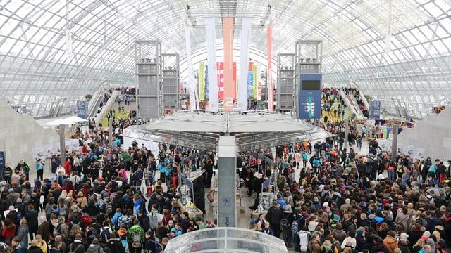 Viele Besucher an der Leipziger Buchmesse.