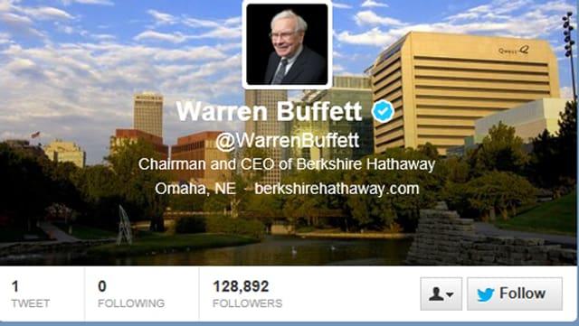 Warren Buffett bei Twitter