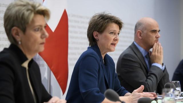 Karin Keller-Suter, Simonetta Sommaruga ed Alain Berset