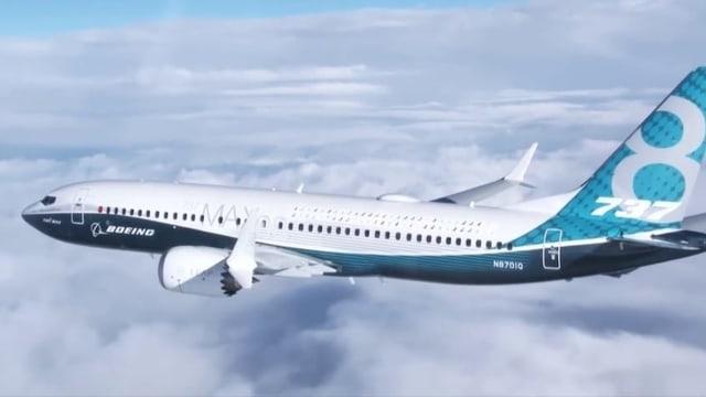 In aviun dal tip Boeing 737 Max sur ils nivels.