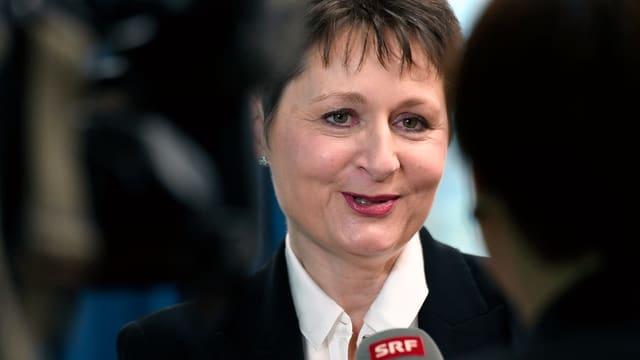 Franziska Roth nach ihrer Wahl