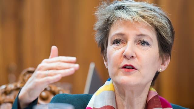Justizministerin Simonetta Sommaruga am 1. Dezember im Ständerat zu MEI.