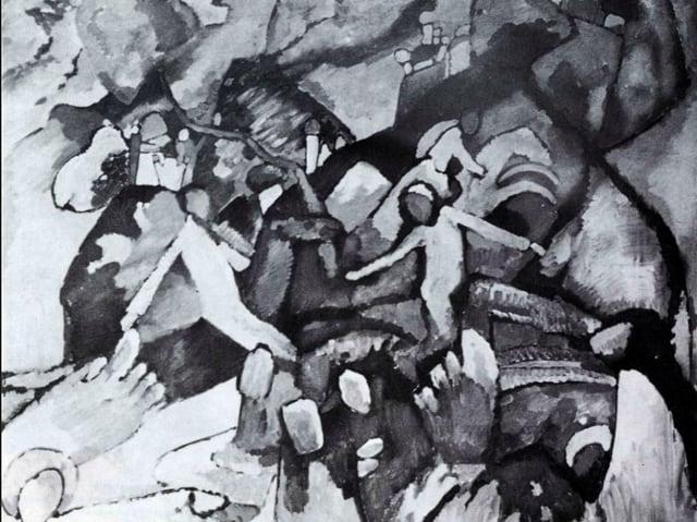 Composition I 1919, Öl auf Leinwand