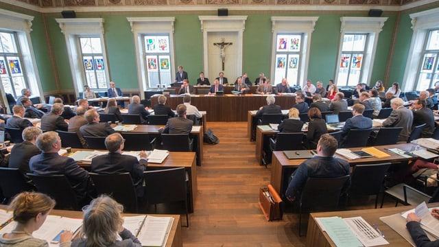 Blick in den Kantonsratssaal
