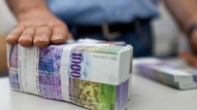 Bancnotas da milli francs.