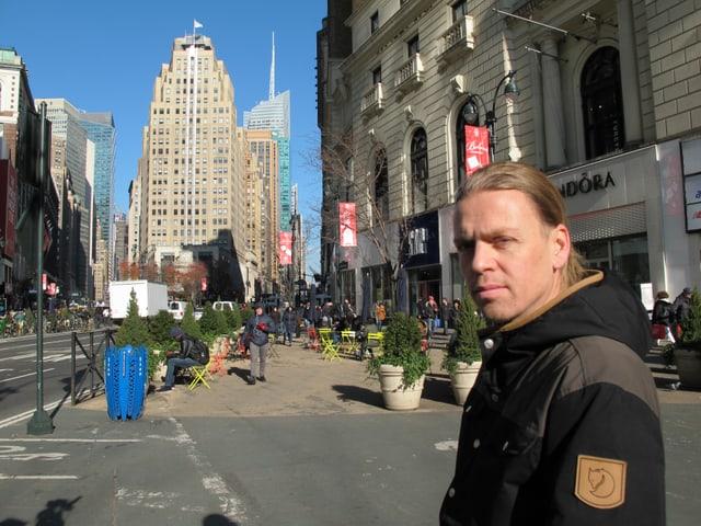Patrick Weder in den Strassen New Yorks.