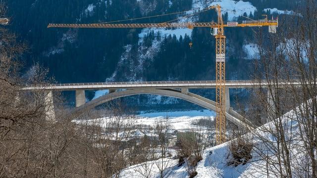 La Punt Val Mulinaun curt avant la finiziun da la construcziun.