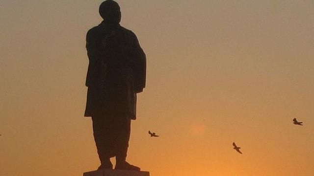 Die Statue von Sardar Patel.