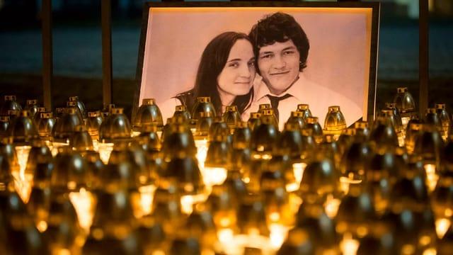 Ein Foto von Jan Kuciak und seiner Verlobten