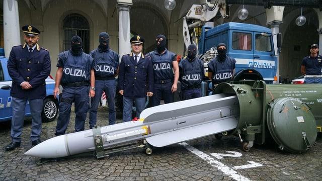 Elia Rosati: «Die Rakete, allerdings ohne Sprengkörper, ist fortgeschrittene Waffentechnologie.»