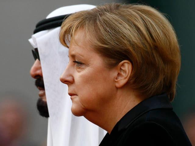 Abdullah und Merkel