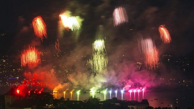 Am Züri Fäscht 2016 gleich dreifach: Das grosse Feuerwerk. Neu gibt es auch eines mitten in der Nacht.