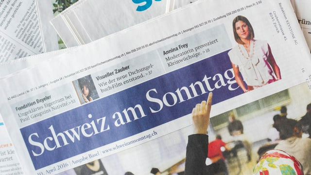 La gasetta da la dumengia «Schweiz am Sonntag».